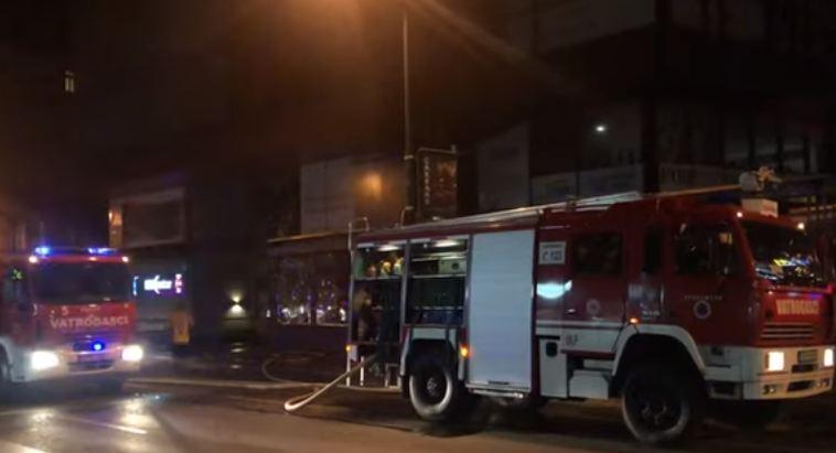 Ugašen požar u tržnom centru, uzrok neispravna plinska boca