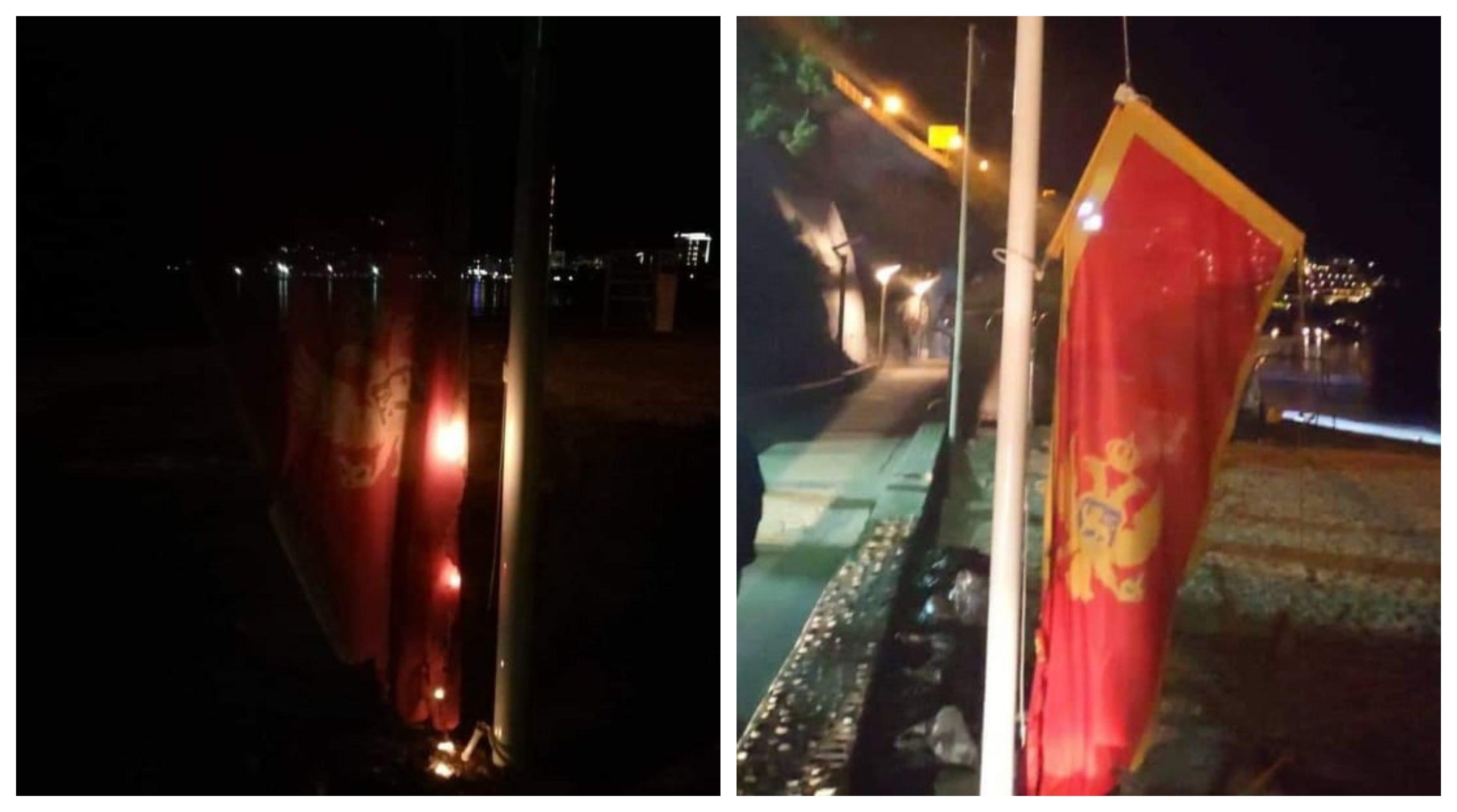 Zbog paljenja zastave uhapšene tri osobe