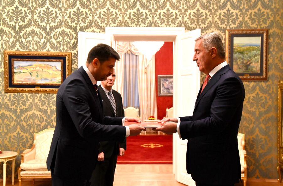 Đukanović primio akreditivna pisma novoimenovanih ambasadora