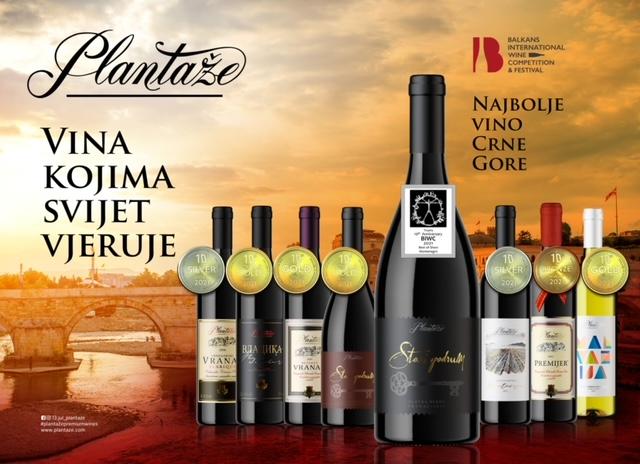 Vina Plantaža zablistala na najvećem vinskom takmičenju u regionu