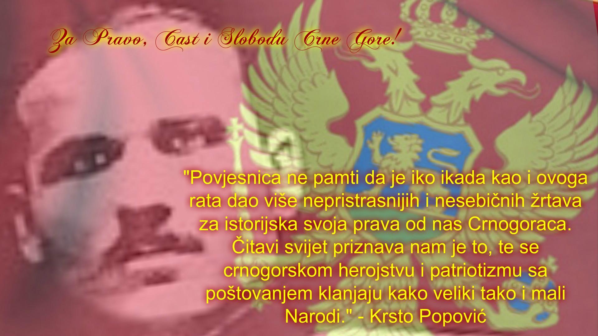 Naredba Krsta Popovića iz 1919: Vi ste svojom krvlju postavili kamen temeljac budućoj Crnoj Gori