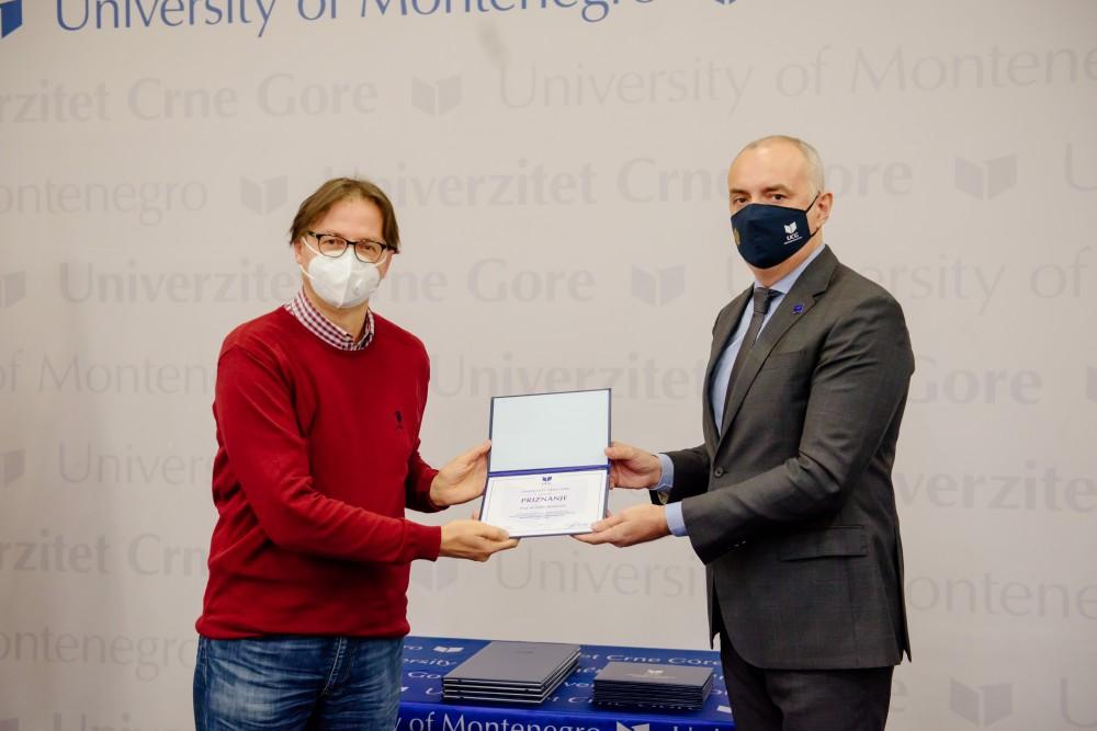 Jaćimović: Naučni radovi, patenti i projekti podižu međunarodnu prepoznatljivost UCG