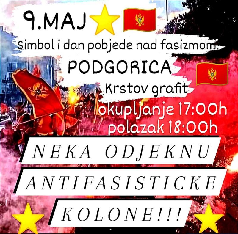 Antifašističke kolone na crnogorskim ulicama i ove neđelje
