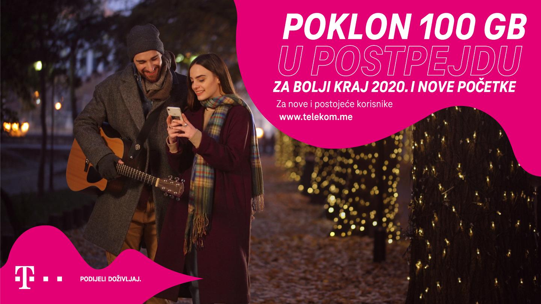 Za bolji kraj 2020:  Od Telekoma 100 GB postpejd korisnicima, duple opcije u pripejdu