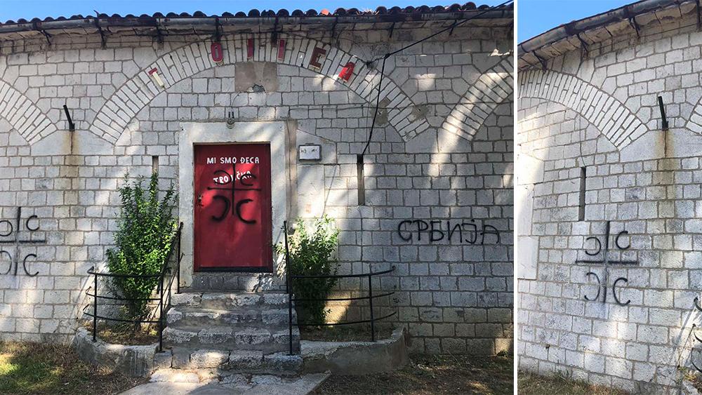 Sramno: Grafiti osvanuli na kotorskoj tvrđavi!