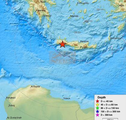 Snažan zemljotres u Grčkoj, epicentar na Kritu