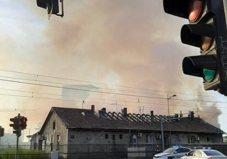 Požar u zgradi u Beogradu