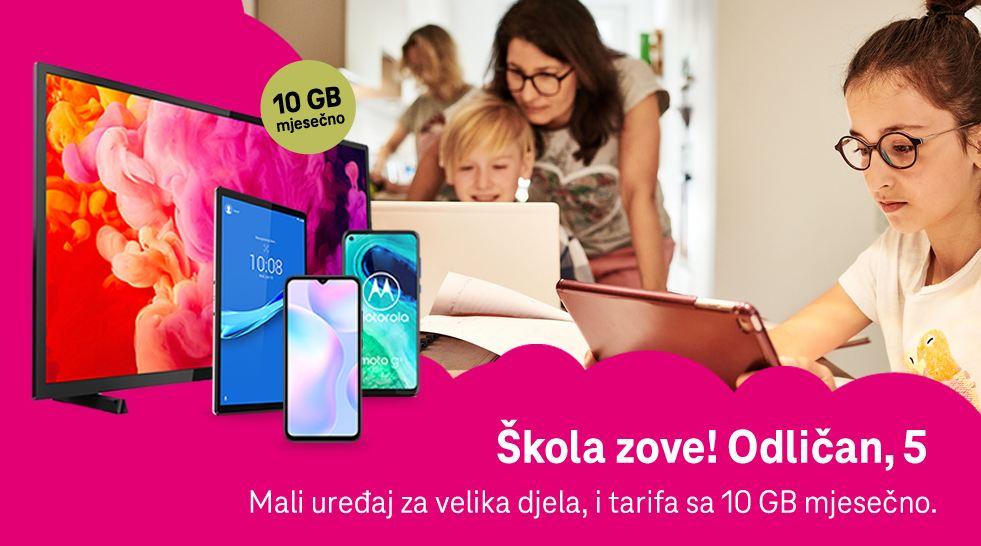 Telefoni, tableti, TV i gigabajti za školarce - Telekom ponuda za Odličan 5!