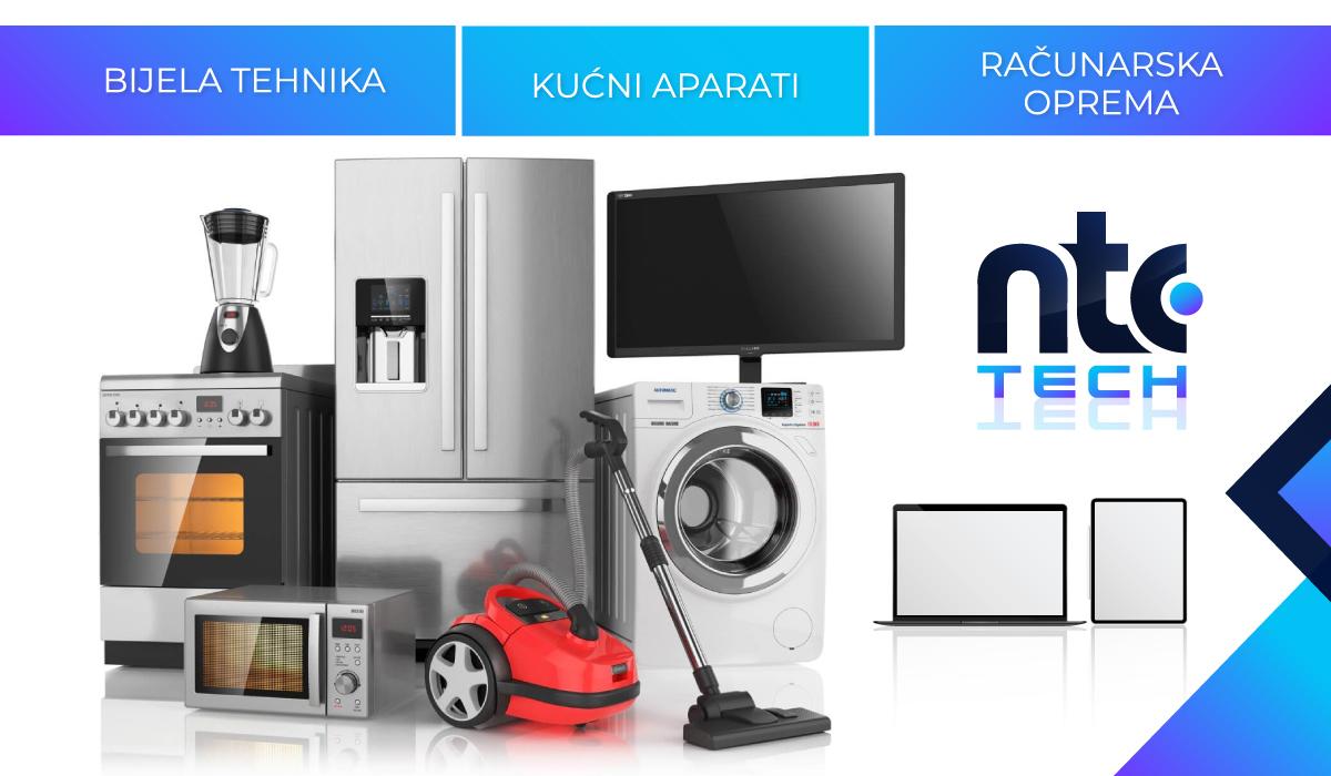 Novo u NTC shop-u: Bijela tehnika, mali kućni aparati i računarska oprema