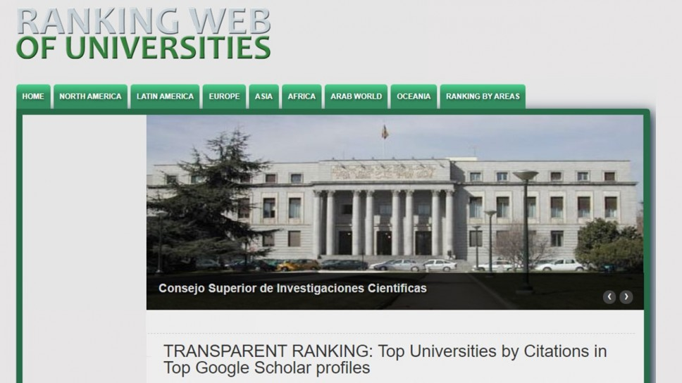 Na Webometrics Transparent Ranking listi UCG napredovao 120 mjesta