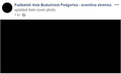 Fejsbuk stranice FK i KK Budućnost u crnoj boji zbog tragedije na Brajićima