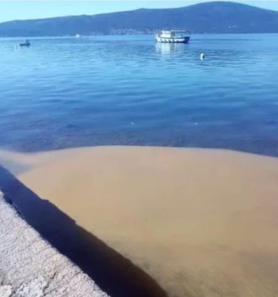 Zagadili more u Tivtu: Prijava protiv turske firme