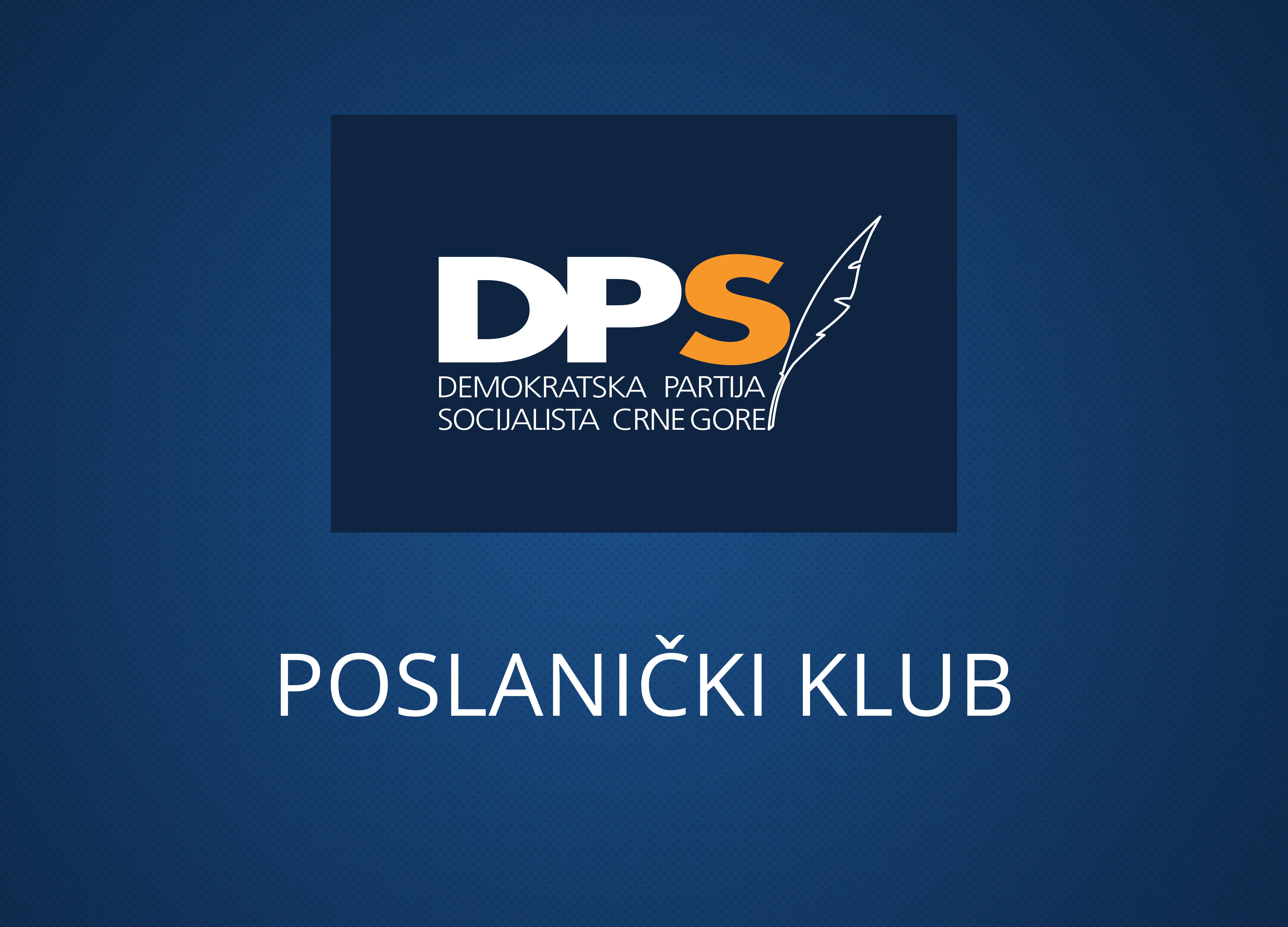 Klub poslanika DPS-a: Spremnošću za revidiranjem tek usvojenog zakona predstavnici većine pokazali da nijesu znali šta usvajaju