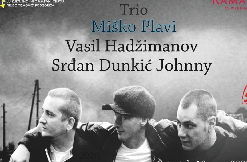 ''Trio Miško Plavi'' večeras na sceni KIC-a