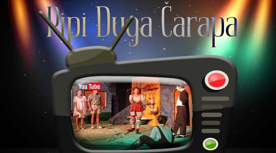 Predstava Pipi duga čarapa na Jutjub kanalu