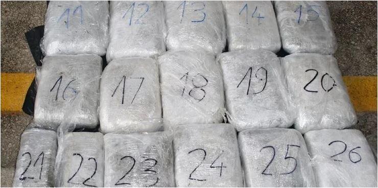 Crnogorac i Srpkinja na granici kod Metkovića pali s više od 27 kg marihuane