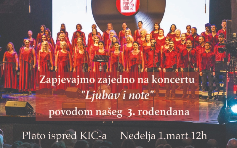 """KIC POP HOR poziva na koncert ''Ljubav i note"""""""