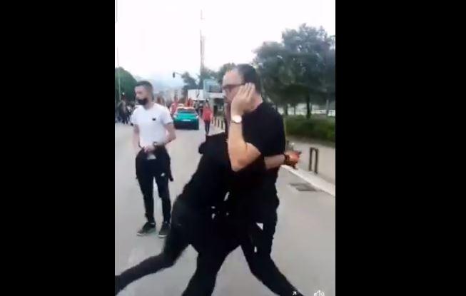Pogledajte snimak: Policajac pocijepao crnogorsku kapu učesniku autokolone
