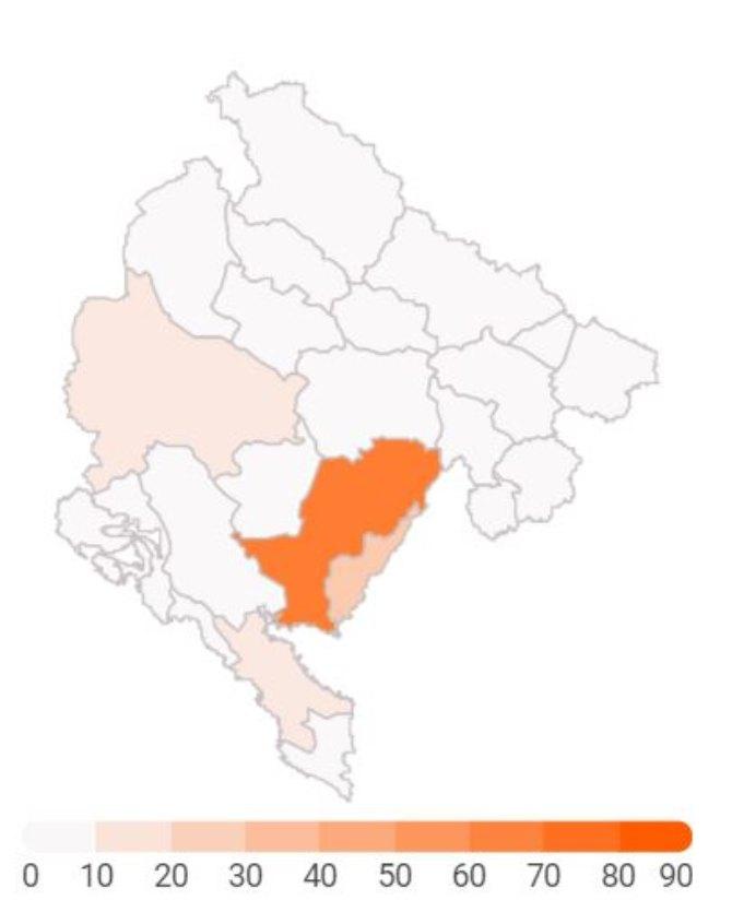 Statistika: Najviše inficiranih u Crnoj Gori od 30-59 godina, njih 95