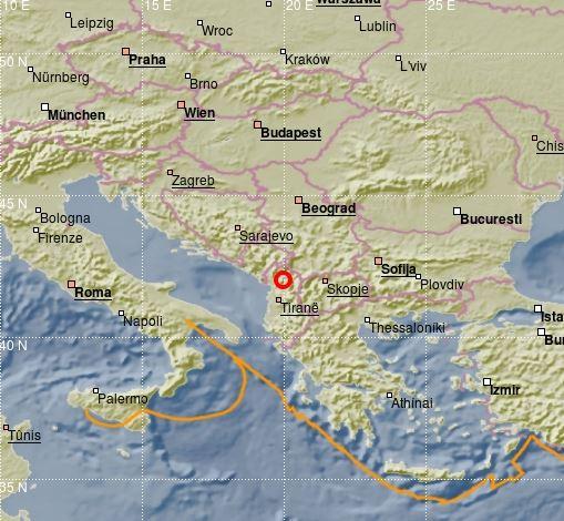 Jači zemljotres u Albaniji, osjetio se i u Crnoj Gori