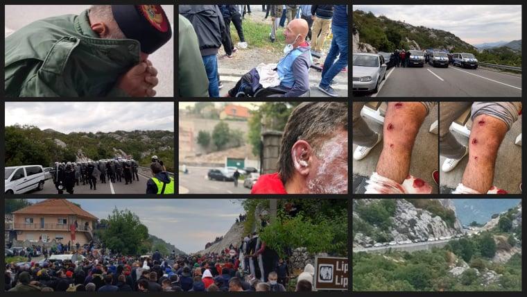 5. septembar u Crnoj Gori: Od noćne straže, preko razbijanja blokada do ručka u Šipčaniku