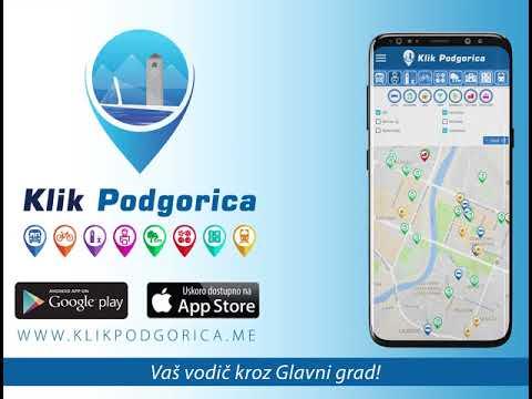 Uz aplikaciju Klik Podgorica brže i jednostavnije do informacija o Glavnom gradu