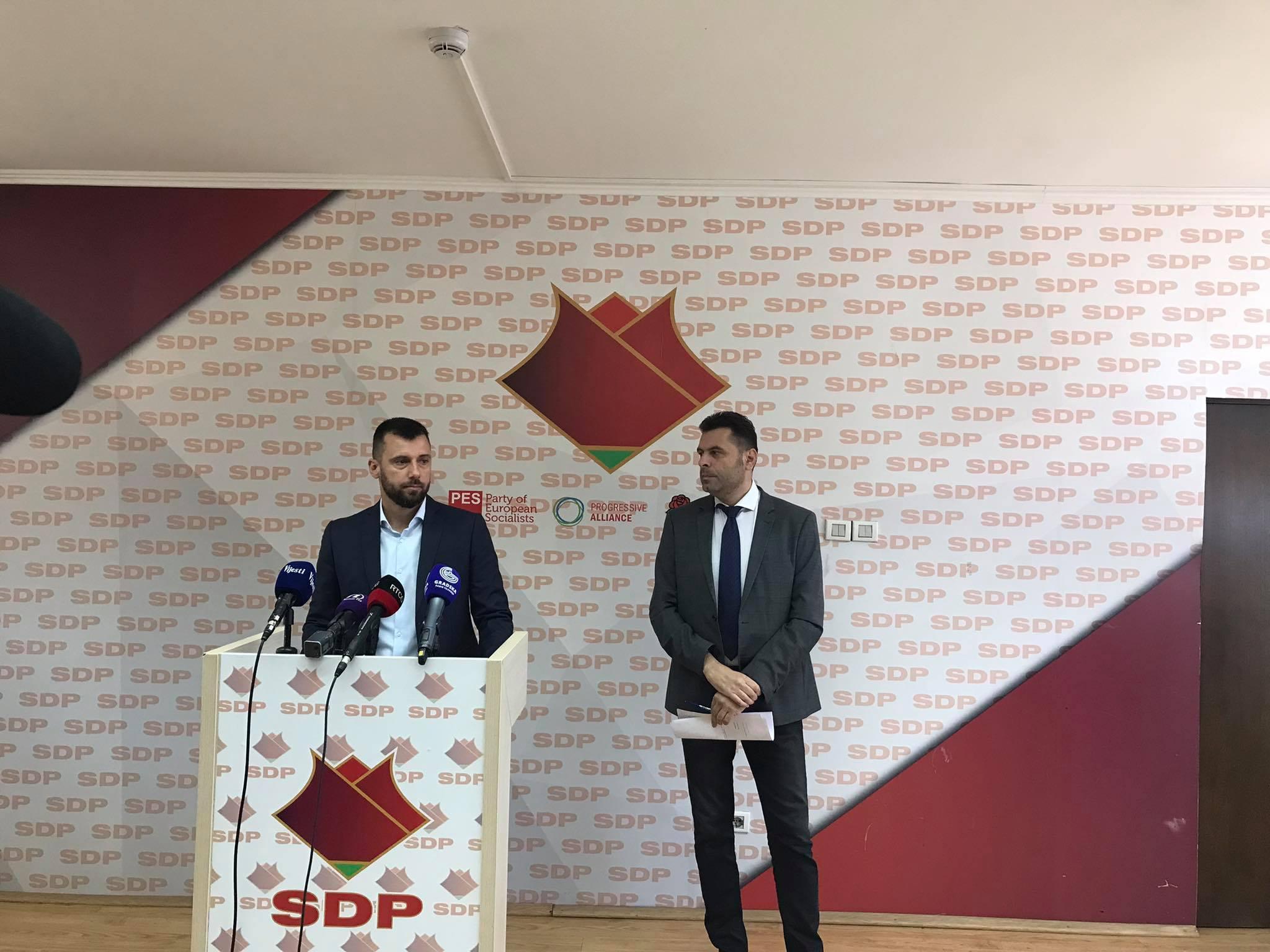 SDP predao rezoluciju o stabilizaciji političkih prilika: Povjerenje u rad Vlade nikad nije bilo niže