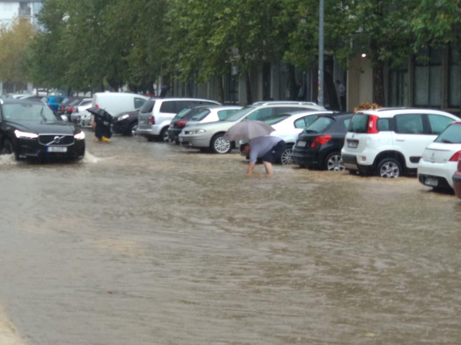 Podgorica: Zabjelo bilo pod vodom, svi iz službe zaštite u pripravnosti