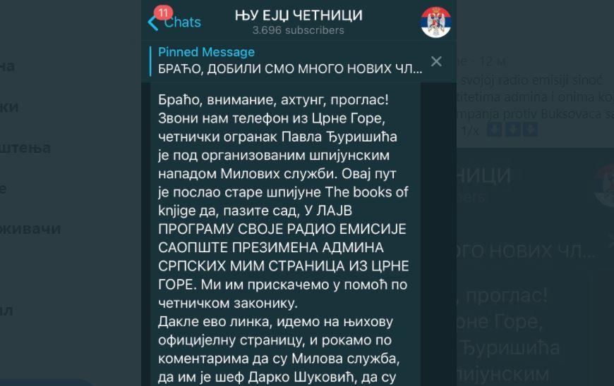 Nakon sinoćnje emisije Buksovaca uslijedila koordinisana kampanja mim stranica Četnici protiv njih