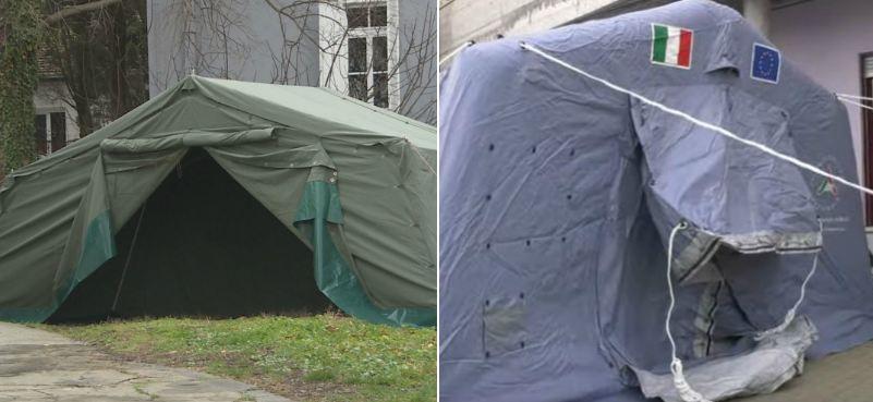 Crnogorski i šator u Italiji - uočite razliku