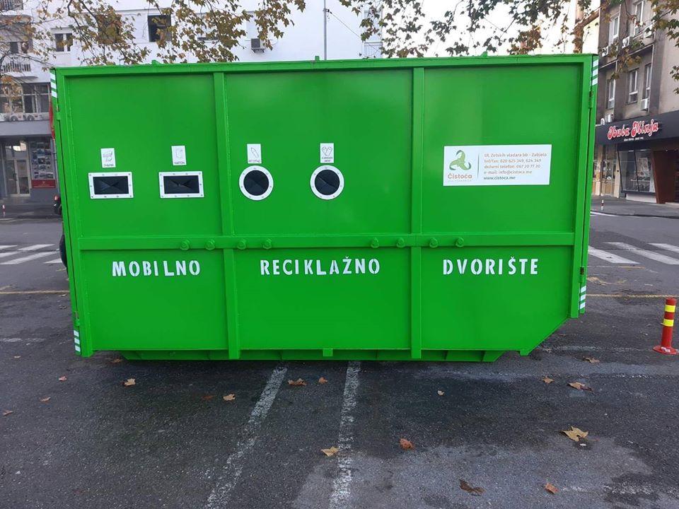 Prvo mobilno reciklažno dvorište u Ulici Balšića