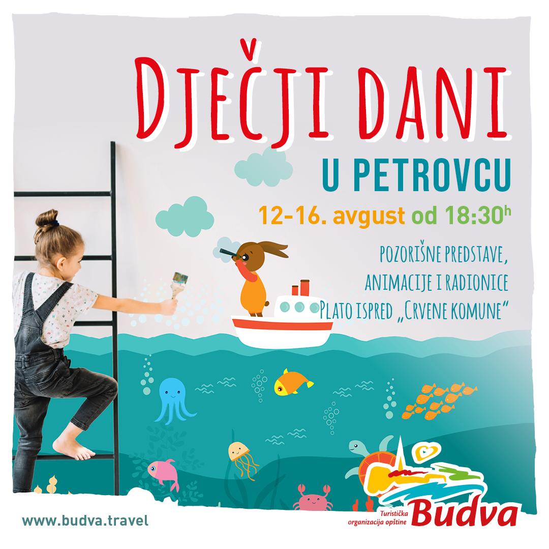 """Manifestacija """"Dječiji dani"""" u Petrovcu od 12. do 16. avgusta"""