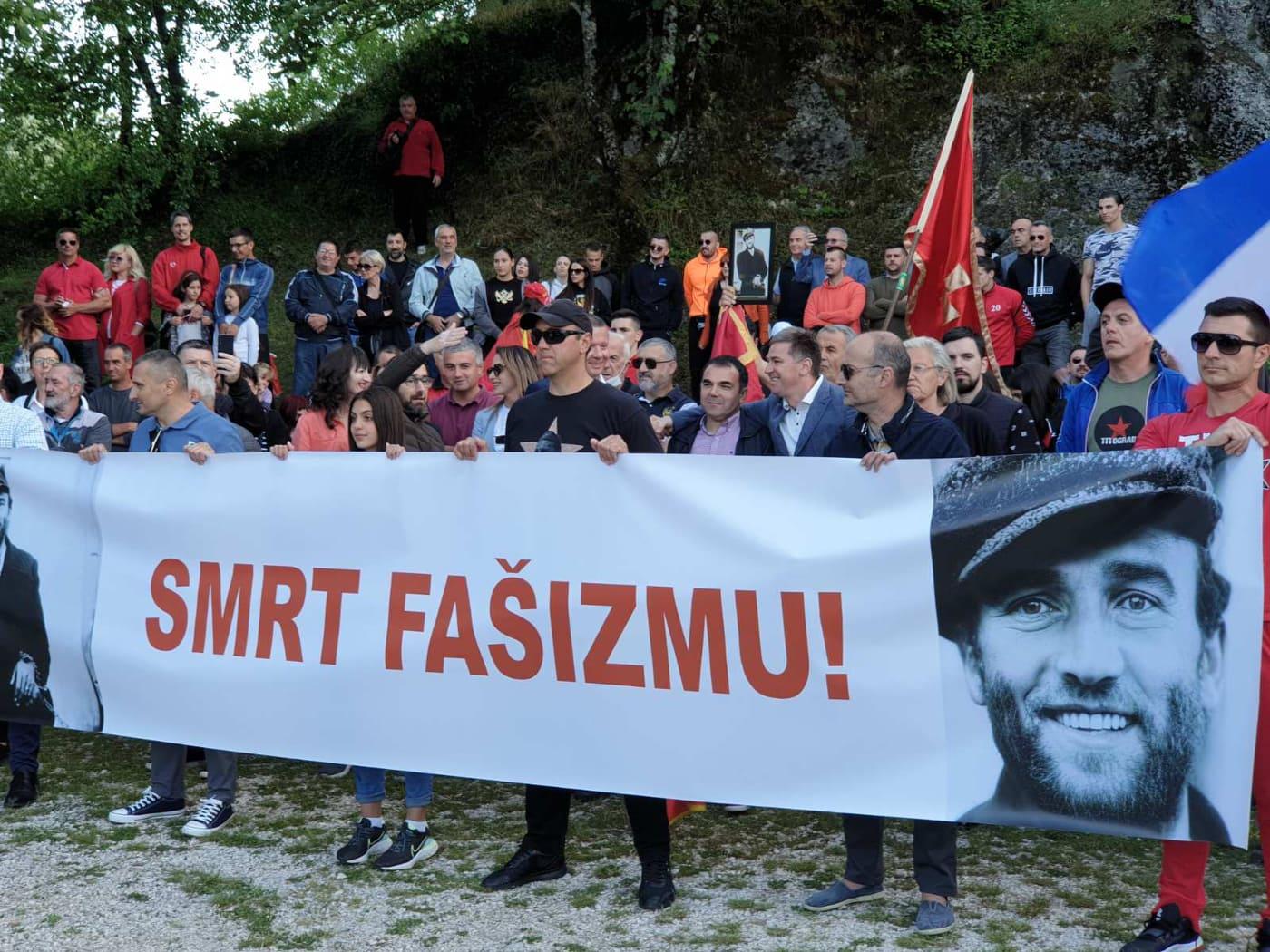 Pogledajte: Antifašistička šetnja na Cetinju