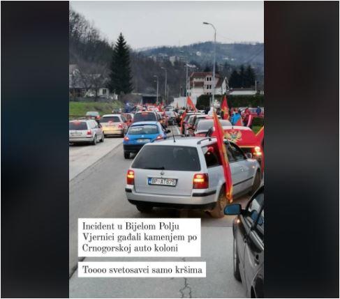 U Beranama provokacije i tuče tokom auto-kolone, privedeno više osoba, kolona u BP kamenovana, incident u naselju Rakonje