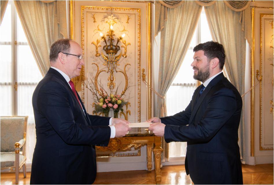 Ivanišević predao akreditivna pisma princu Albertu II od Monaka, upućen poziv Đukanoviću