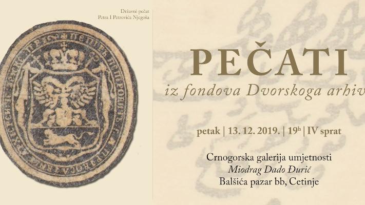 Izložba ''Pečati iz fondova dvorskog arhiva''