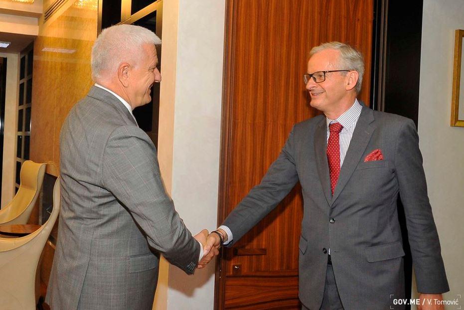Marković primio Danijelsona: CG će kao lider integracija dodatno jačati posvećenost i efikasnost na putu ka EU