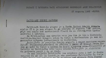 Patrijarh Dožić 1945: Kralj Petar je lažov, kralj me je prevario za sve što mi je obećao