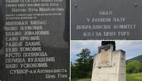 Osumnjičeni za uništavanje spomen ploče na Ravnom Lazu učesnik litija, uništavao javne površine...