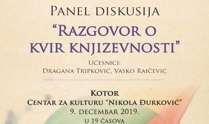 "Panel diskusija ''Razgovor o kvir književnosti"" u Kotoru"