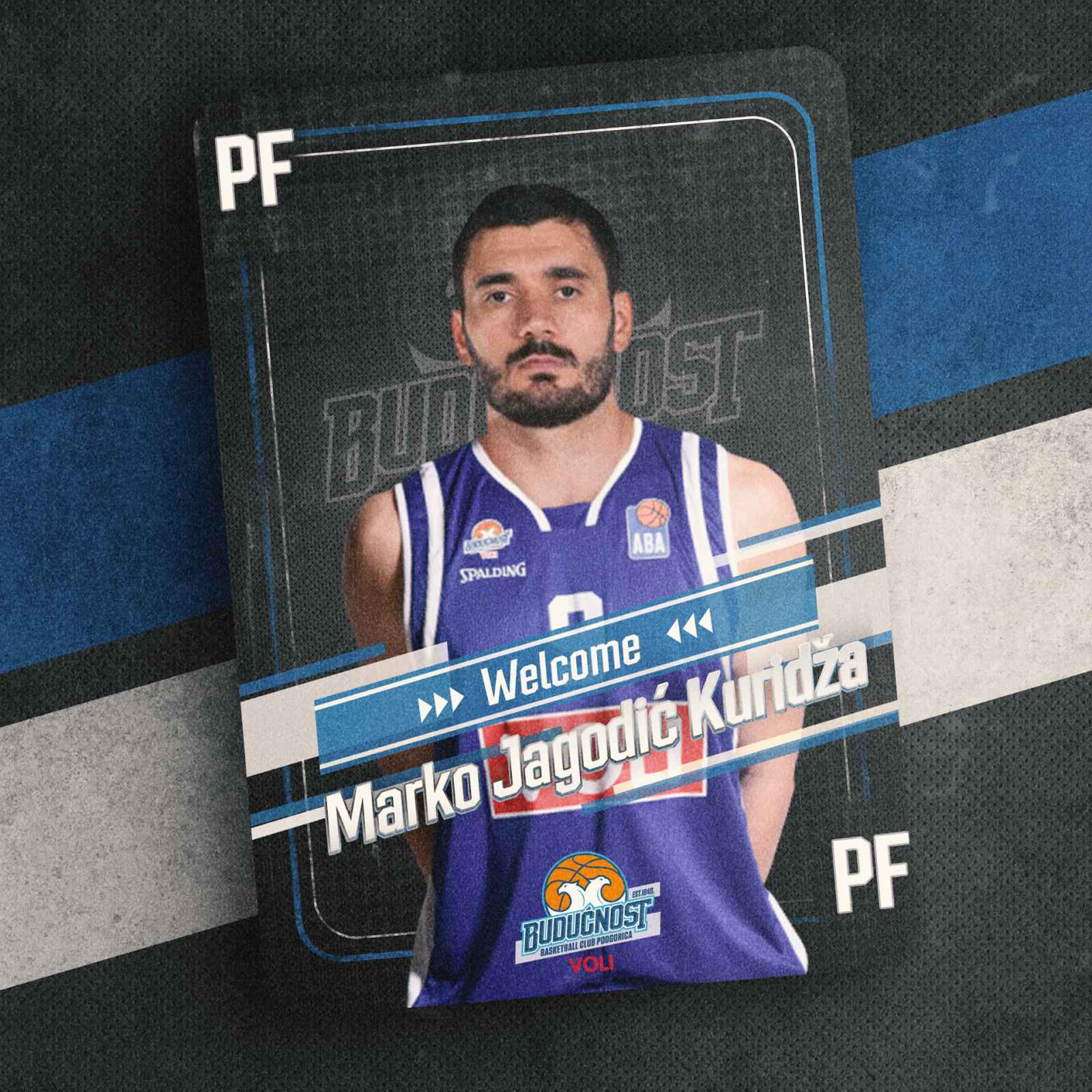 Kuridža novi košarkaš Budućnosti Voli