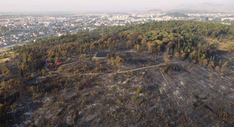 Pola minuta tuge: Pogledajte kako brdo Gorica izgleda nakon požara