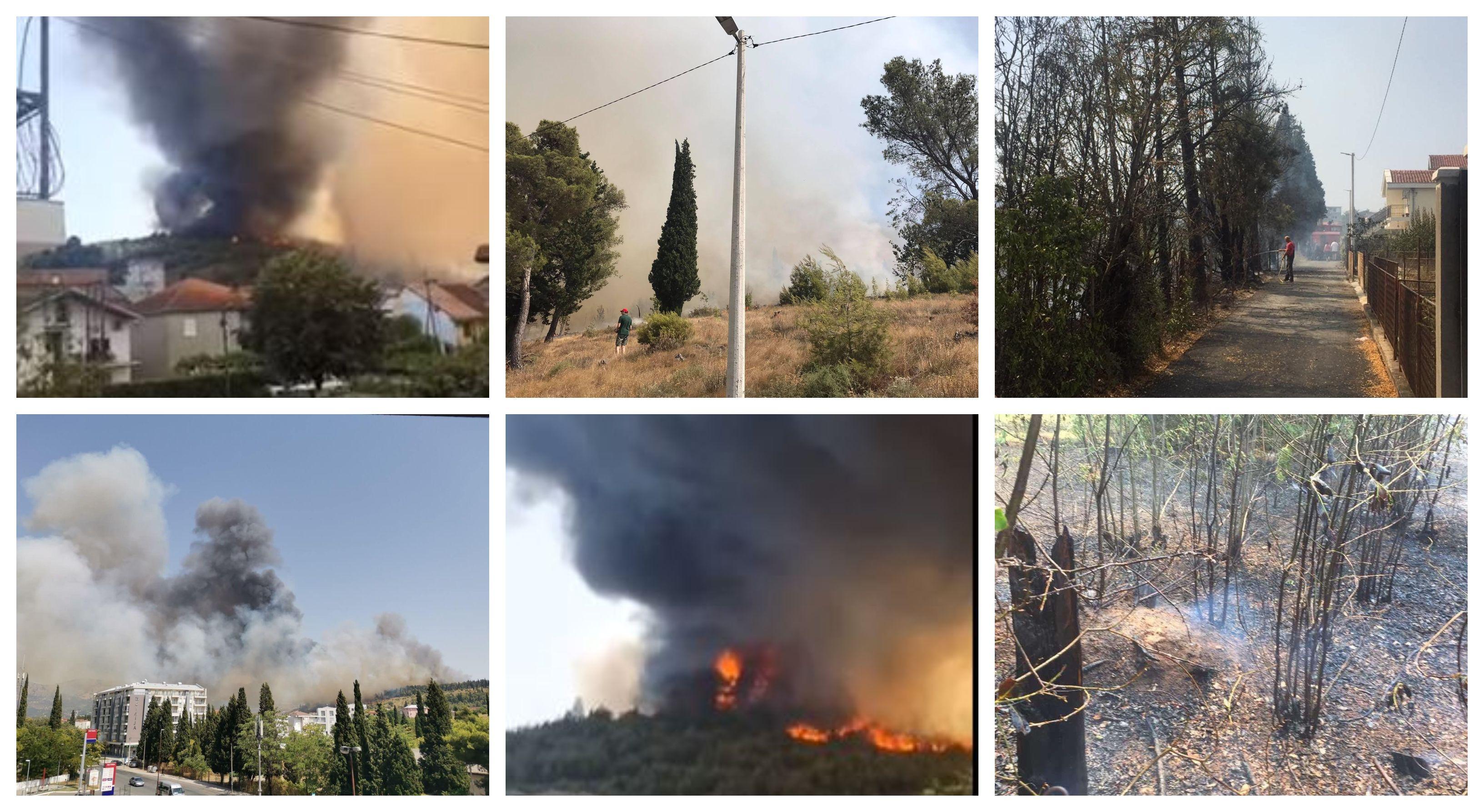Vatra na Gorici pod kontrolom: Sumnja se da su požari podmetnuti, ekipa na terenu do daljnjeg
