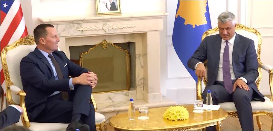 Grenel u Prištini sa Kurtijem i Tačijem o dijalogu sa Srbijom