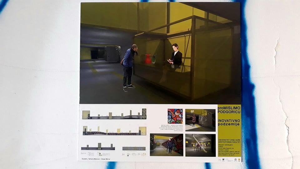 """Otvorena izložba """"Promislimo Podgoricu/inovativno podzemlje"""""""