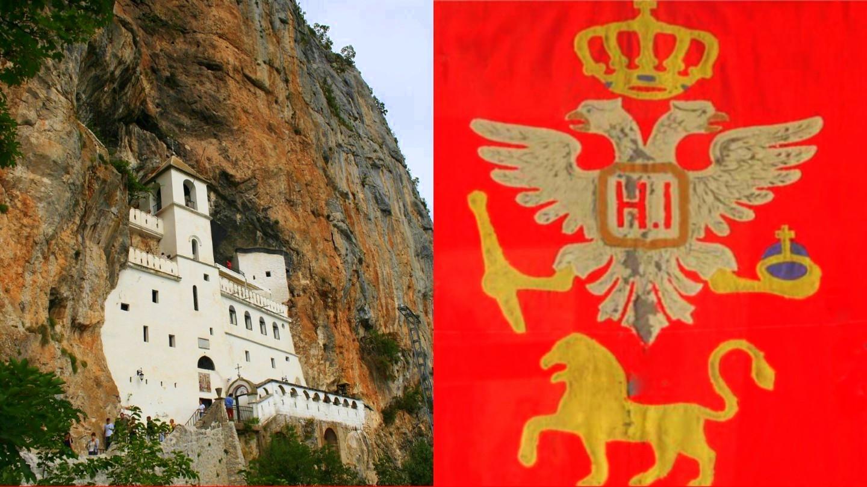 Crnogorska zastava na Ostrogu