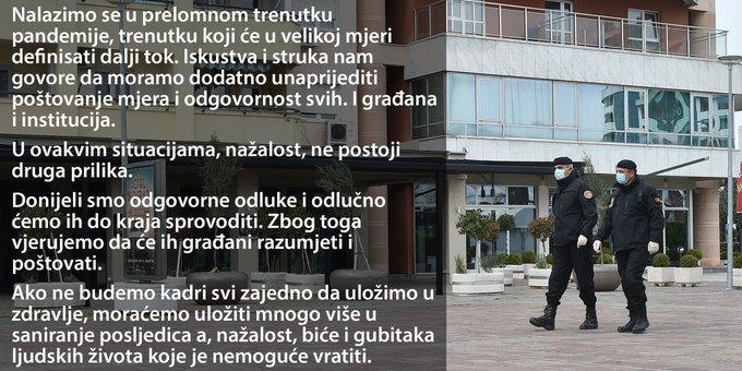 Građanima zabranjen izlazak iz domova u određenim periodima!