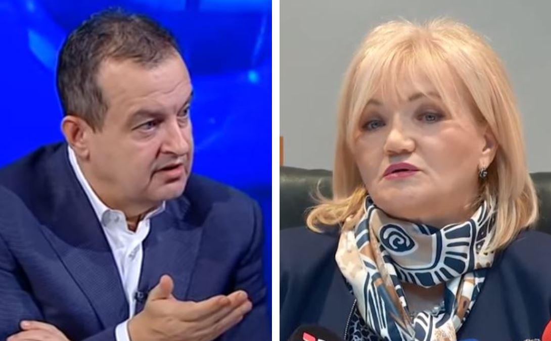 Dačić tvrdi da Vujanović ide na litije, ona poručuje: Sa indignacijom odbacujem to podmetanje