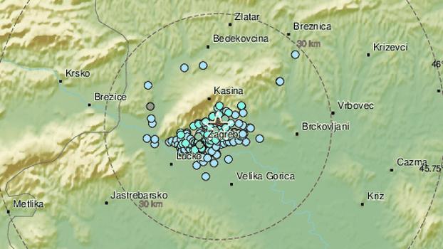 Novi jači potres pogodio Zagreb