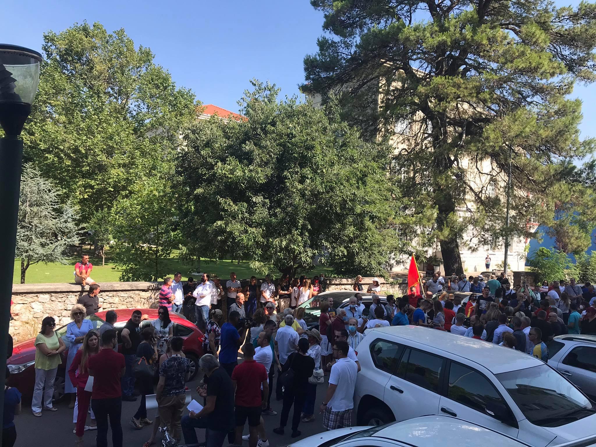 Protest ispred Bratićkinog resora: Ne damo đecu u četnike